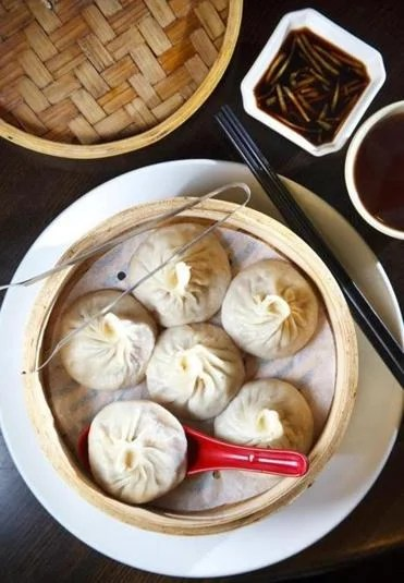Mini Pork Buns at the Dumpling Cafe